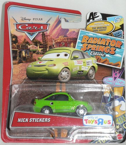 Disney / Pixar CARS RADIATOR SPRINGS CLASSIC Exclusive 1:55 Die Cast Car Nick Stickers