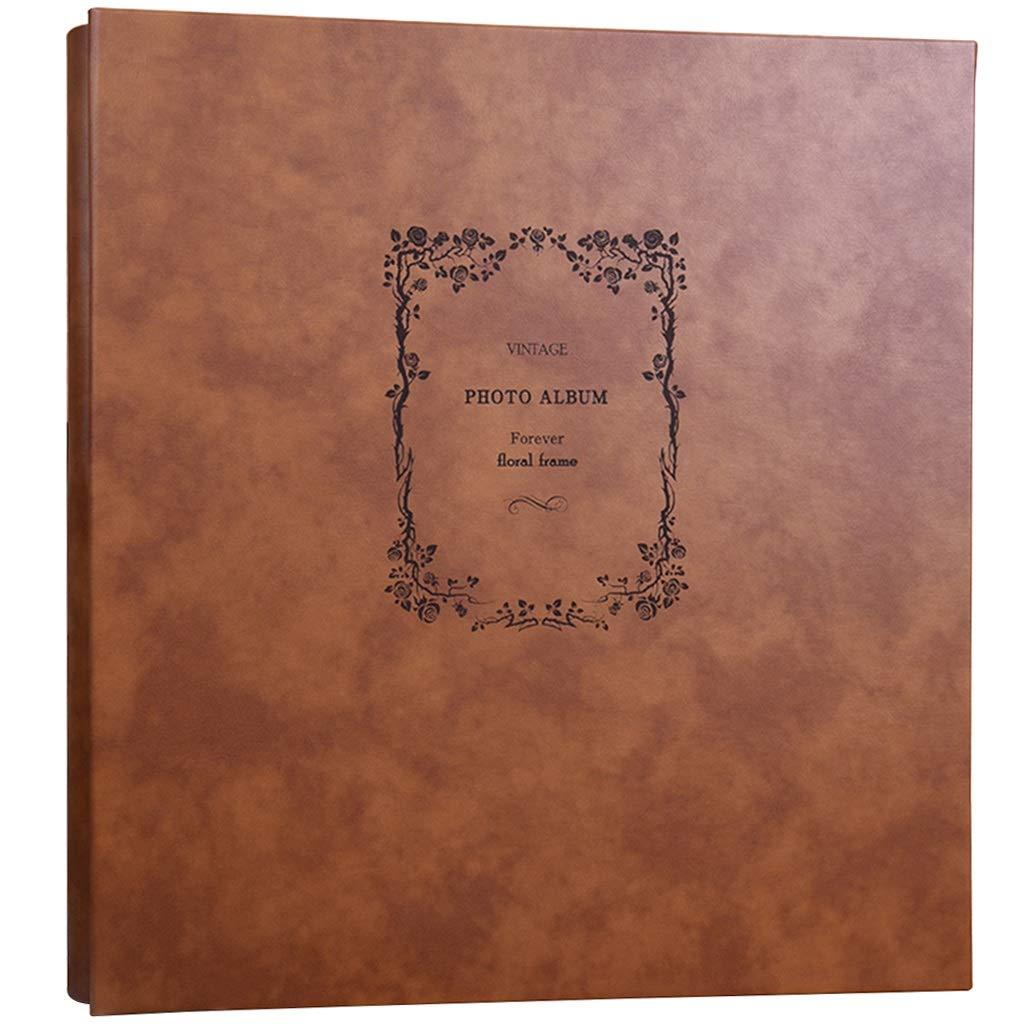 TYDG 6X4 Retro PU Interstitial Photo Album, Large-Capacity Waterproof Family Photo Album with 770 Photos