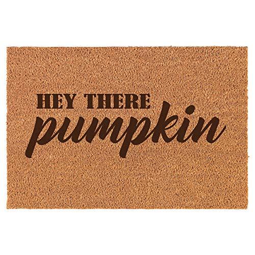 Pumpkin Door - Daylor Coir Door Mat Doormat Hey There Pumpkin