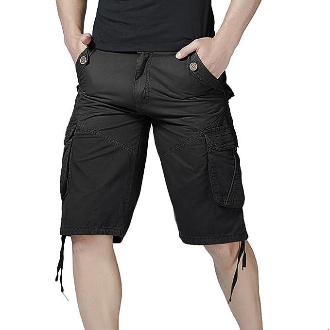 SamSoMon 2019 Hombre Fundamentals Logo Pantalones Cortos de Playa Running Surf Playa Shorts,Moda Casual