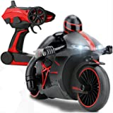 Hugine 4CH RC Motorcycle 2.4G Fast Speed 1:18 Remote Control Motorbike With Headlights Electric Vehicle Car Toy (Red)