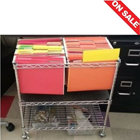 Beautiful Office Cart Utility Portable Multipurpose Metal Frame Rolling Envelopes  Files Rack On Wheels Home Office Indoor