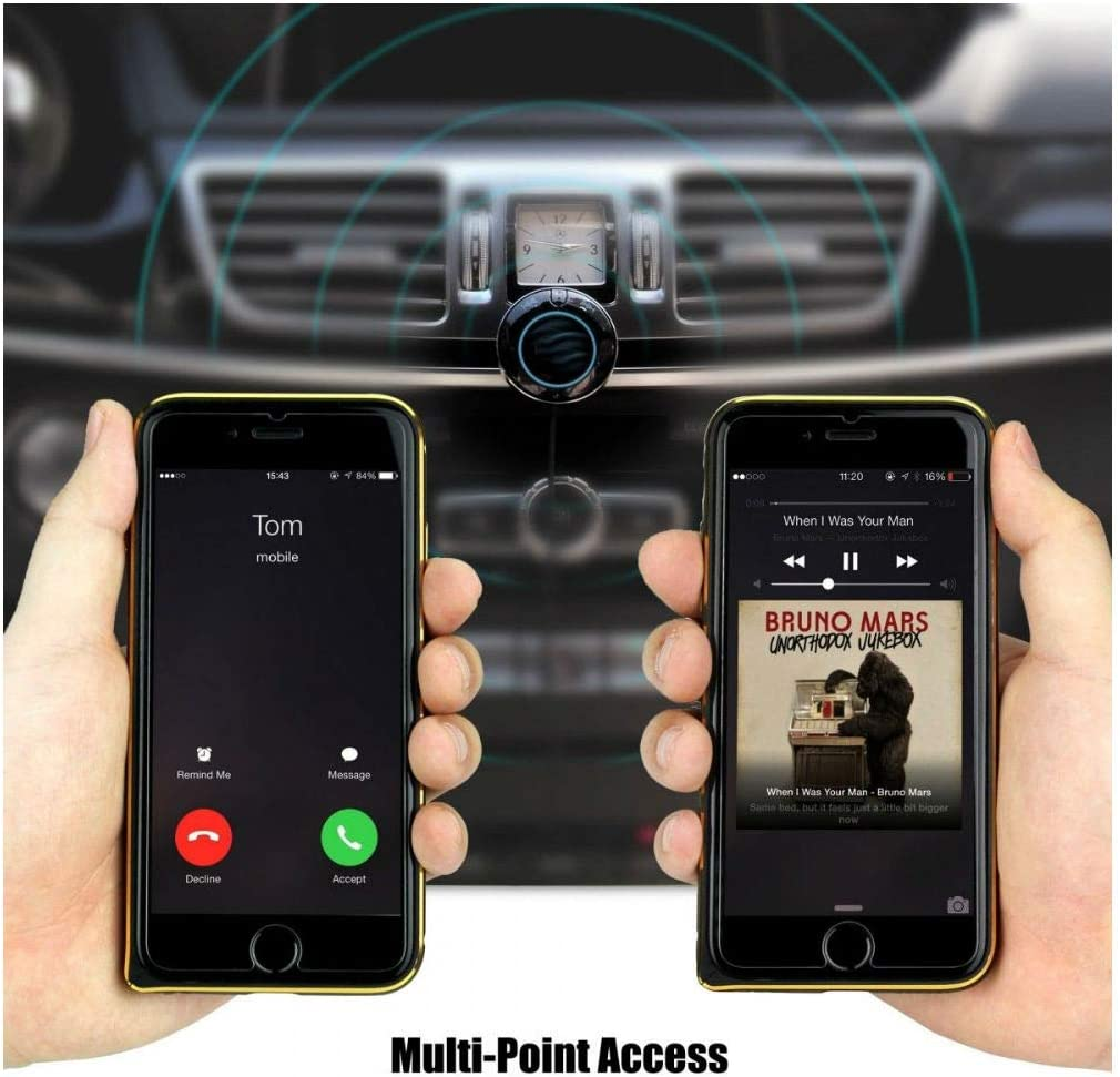 Himbox HB01 Bluetooth 4.0 Hands Free Car Kit with 3.5mm Aux Jack New
