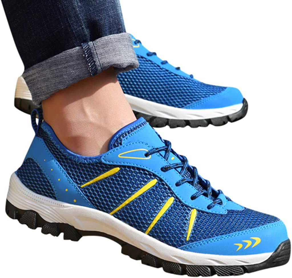 Jentouzz Mens Fashion Sneakers Comfort Breathable Outdoor Hiking Shoes Lightweight Walking Shoes