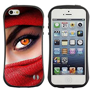 Hybrid Anti-Shock Bumper Case for Apple iPhone 5 5S / Beautiful Eyes