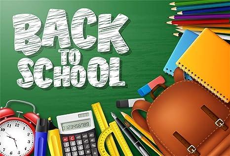 Amazon com : Leyiyi 9x6ft Welcome Back to School Backdrop