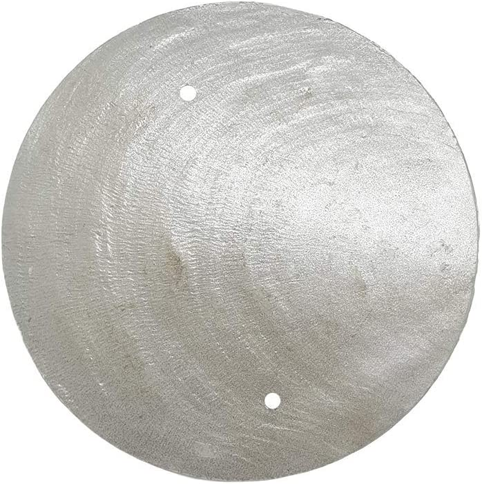 VIE Naturals Capiz Shell Discs Diameter With 2 holes-45 Pcs (Silver), 5cm