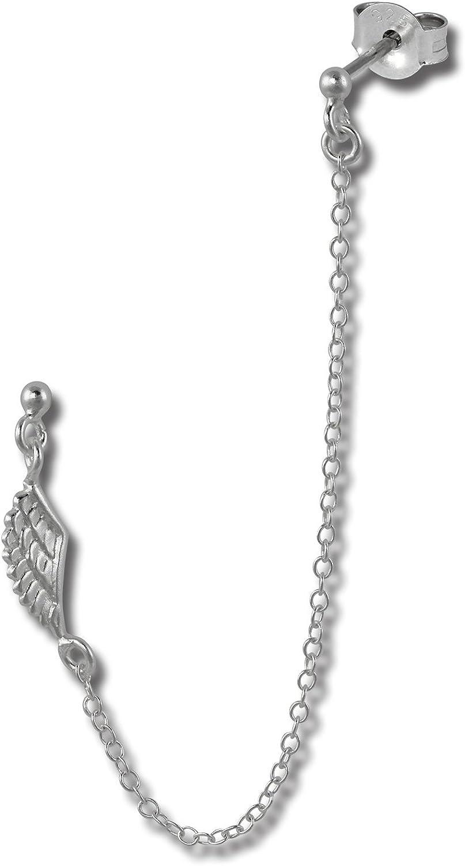 SilberDream Pendientes de botón - Piercing - doble - 2 orejas perforadas para - 925/1000 Plata de ley SDO8860
