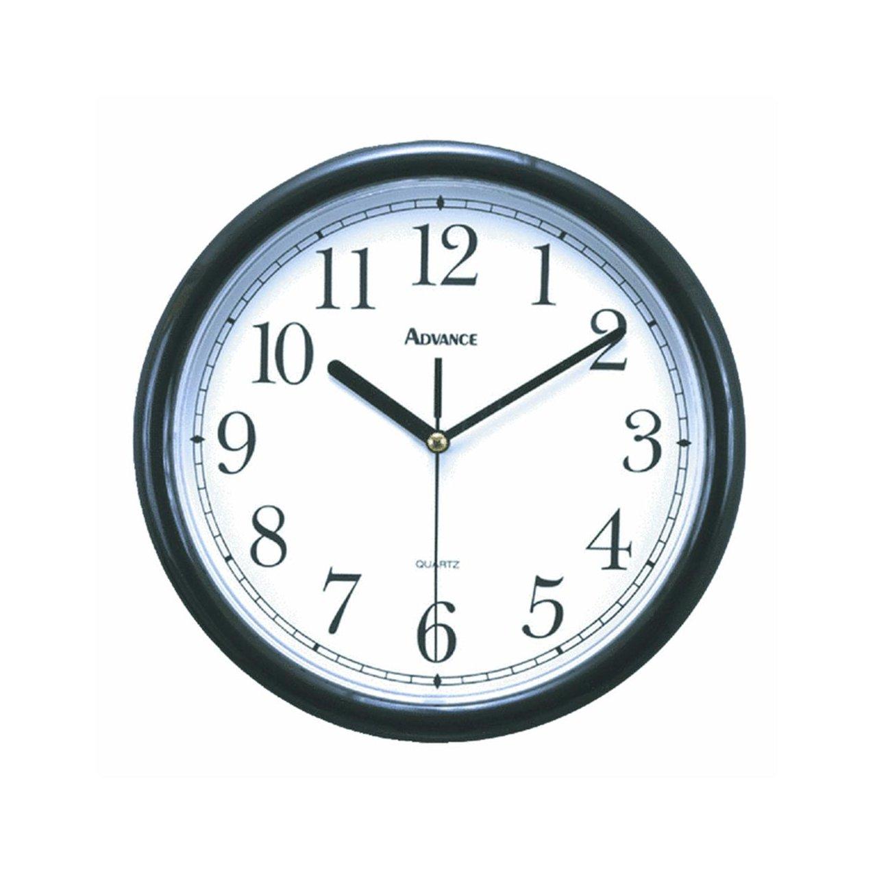 Amazon advance clock co 10 wall clock black home kitchen 10 wall clock black home kitchen amipublicfo Images