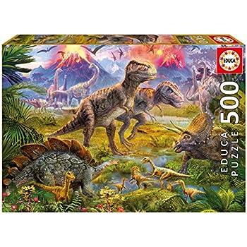 Amazon Com Educa Dinosaur Gathering Puzzle 500 Piece