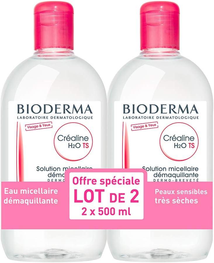Solución micela Bioderma Crealine TS H2O 2 x 500 ml: Amazon.es: Belleza