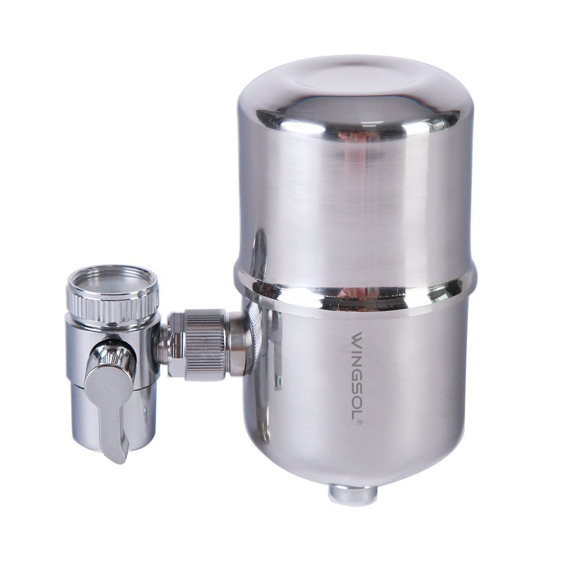 Water filter, Wingsol Healthy Faucet Water Filter System - Tap Water Purifier Filter Water Purifying Device for Home Kitchen with stainless-steel