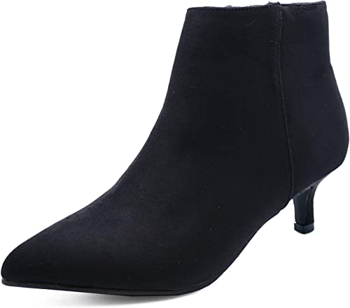 Low Heel Faux Suede Ankle Boots