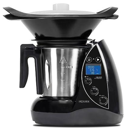 Cecotec Robot de Cocina Multifunción IronMix. Capacidad de 3,3l, Temperatura hasta 120ºC, 12 Velocidades + Turbo, Programable hasta 60 min, Incluye ...