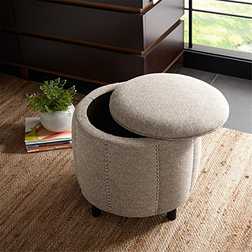 Madison Park FPF18-0266 Mason Ottoman by Madison Park