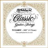 D\'Addario NYL048W Silver-plated Copper Classical Single String, .048