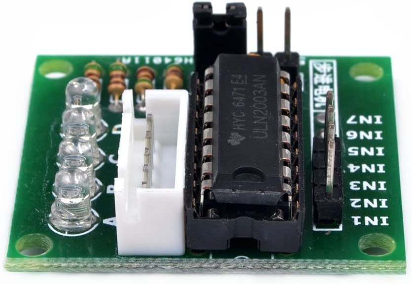 Allpartz 2PCS 5V 28BYJ-48 Stepper Motor within ULN2003 Drive Test Module Board for DIY Experiment