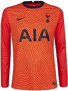 Nike 2020-2021 Tottenham Home Goalkeeper Football Soccer T-Shirt Jersey (Orange)