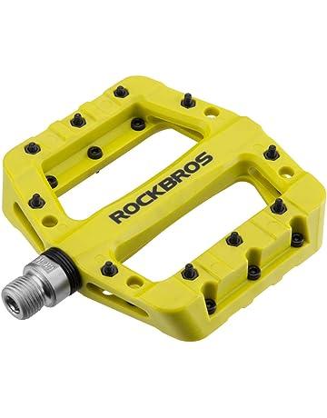 c53f5a6d082 RockBros Lightweight Mountain Bike Pedals Nylon Fiber Bicycle Platform  Pedals for BMX MTB 9 16