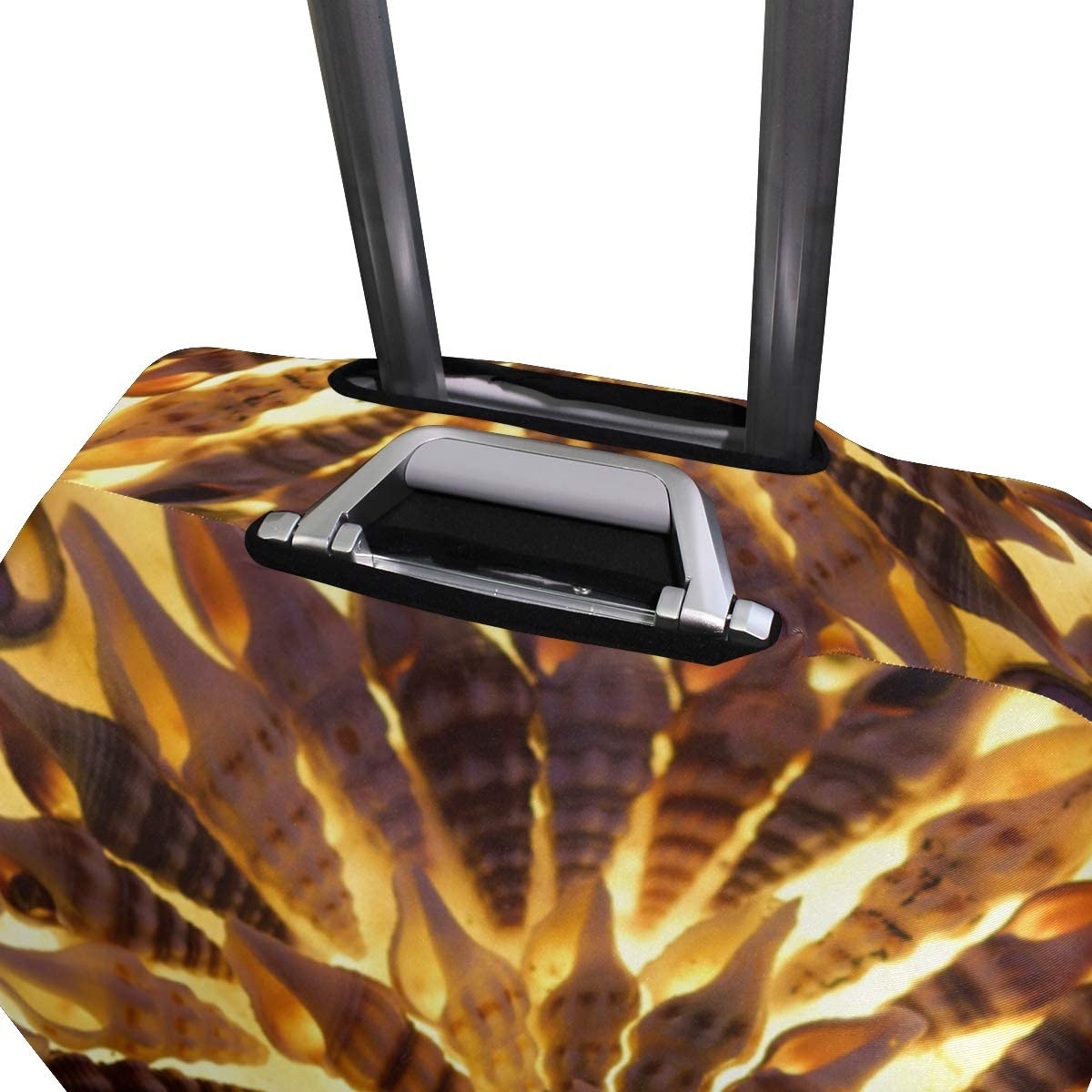 FANTAZIO Mussels Gold Light Flora Pattern Suitcase Protective Cover Luggage Cover
