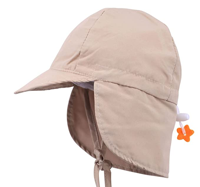 76cf8e6f ThunderCloud Kid's SPF 50+ UV Sun Protective Adjustable Baby Hat,Khaki,S
