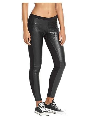 e9f3a3eb45c0c Converse Women's PU Knit Legging Black 10001633-001 (Small) at ...