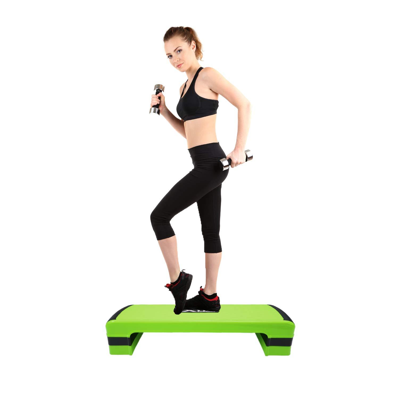 Xn8 Sports - Escalón Ajustable para Ejercicios aeróbicos, Gimnasio, Yoga, Verde: Amazon.es: Deportes y aire libre