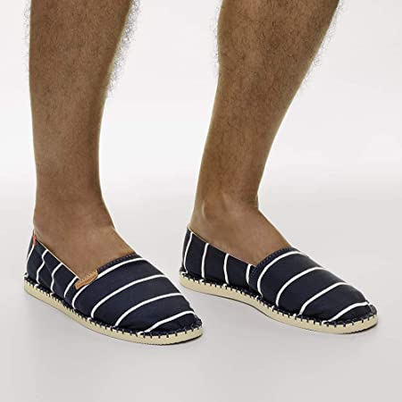 Havaianas HAV Origine Stripes Navy Blue, Sandalias con cuña Tipo Alpargatas Unisex Adulto