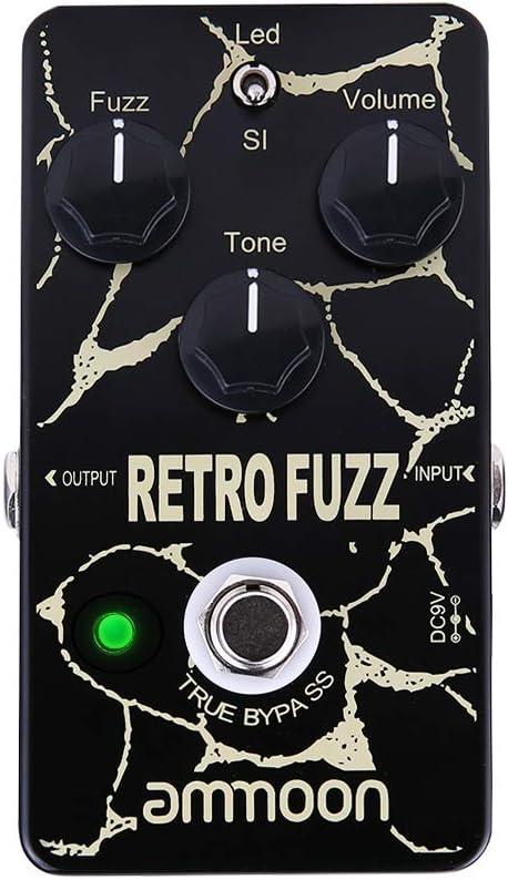 ammoon RETRO FUZZ Pedal de Efecto de Guitarra Analógica Fuzz 2 Modos True Bypass Shell de Aleación de Aluminio