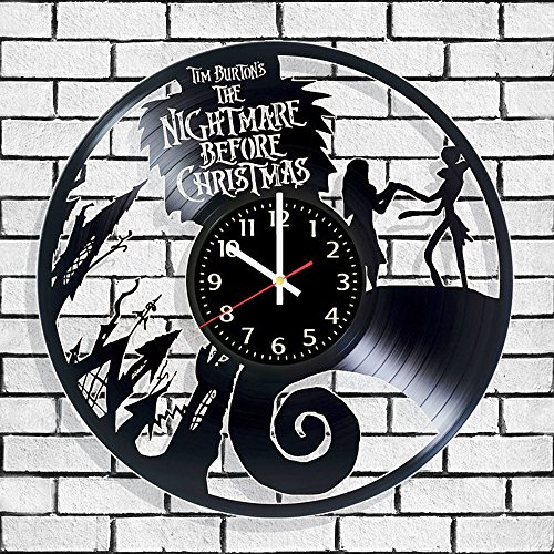 Vinyl wall clock Nightmare before christmas, Nightmare before christmas wall poster, Nightmare before christmas decal