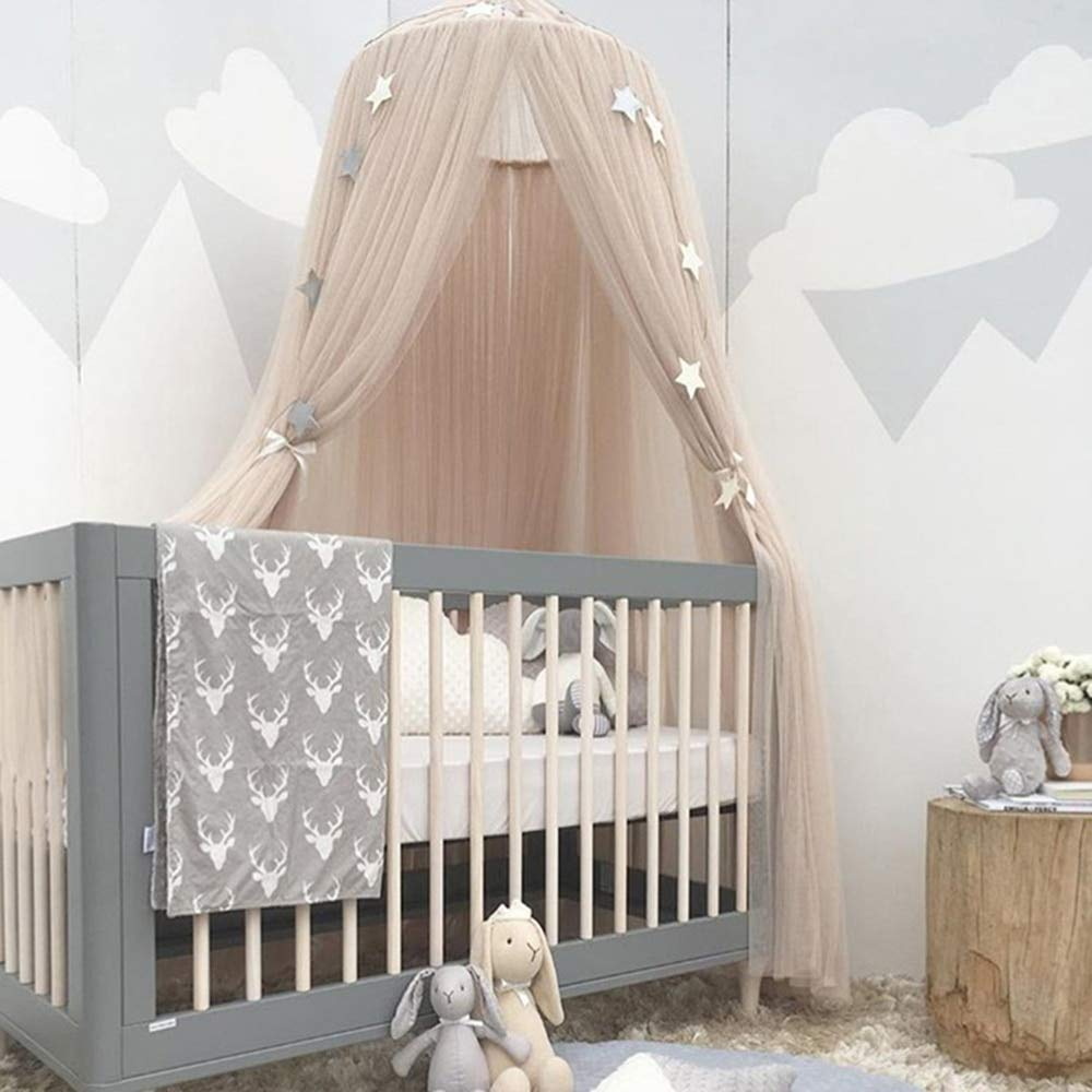 Mosquito Net - Summer Hanging Baby Bed Canopy Dome Lace Dream Curtain Tent Baby Crib Netting Round HungTent Children Room Decor