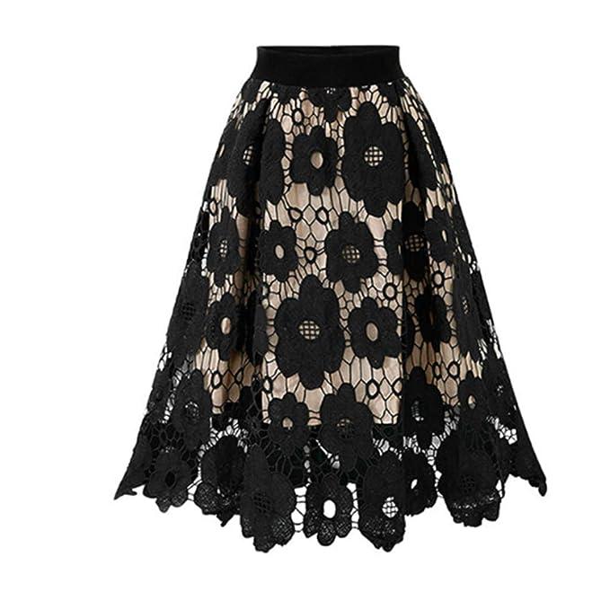 OPAKY Elegantes Faldas Cortas Mujer Verano Falda del Patín ...