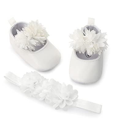 6186048854a89 Angelof DéCoration Florale - Fafiot + Ceinture De Cheveux Chaussures  Confortables Fille GarçOn BéBé Unisexe Enfant Vetement Hiver Souple   Amazon.fr  ...