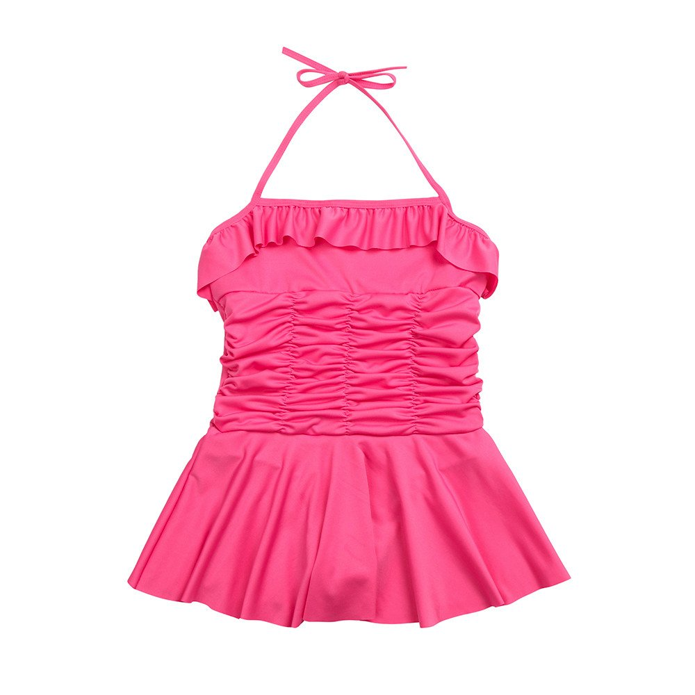 Toddler Girl Strap Dress - Playsuit Swimwear Ruched Swimsuit Bathing Beach Clothes,2019 New