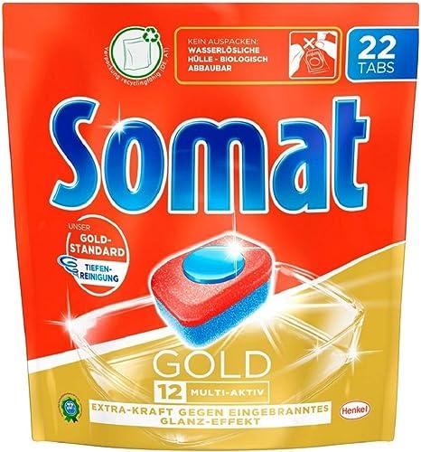 Somat Tabs 12 Gold Dishwasher Tablets SGDE Dishwasher-safe 176: Amazon.de: Drogerie & Körperpflege