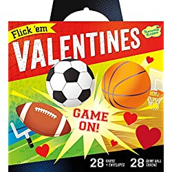 Peaceable Kingdom Flick 'em Sports Games 28 Card Super Valentine Pack
