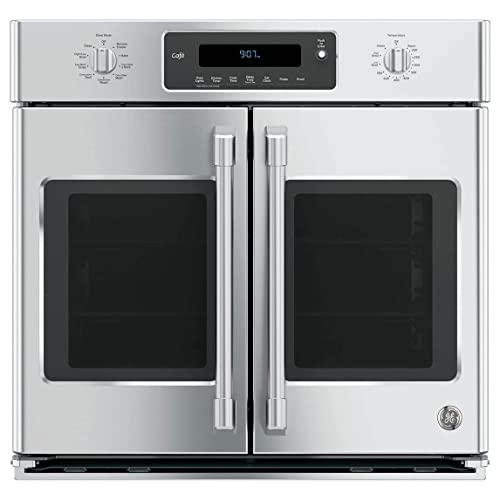 GE Cafe CT9070SHSS 30Inch Single French Door Electric Wall Oven