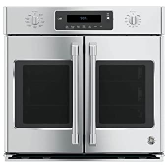GE Cafe CT9070SHSS 30u0026quot; Single French Door Electric Wall Oven With Self  Clean In