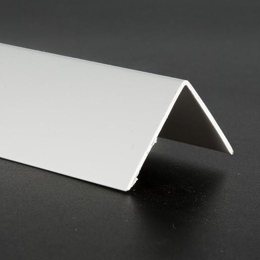 Winkelprofil PVC 20x20mm Weiss PVC 2m Winkelleiste Profil Weiß Winkel Leiste
