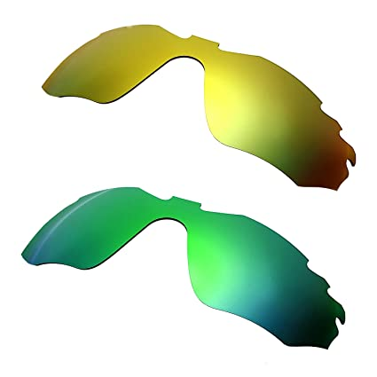HKUCO Mens Replacement Lenses for Oakley Radar Edge 24K Gold/Emerald Green Sunglasses Le0qr2vj