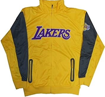 Los Angeles Lakers NBA resonar Full Zip chaqueta para hombre Big And Tall tamaños, Gold