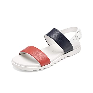 72bc90140f36a Image Unavailable. Image not available for. Color  Flat Sandals Silver Women  Casual Comfortable Soft Leather ...