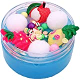 DIGOOD Fluffy Slime Toy Stress Mixing DIY Cotton Milk Mud Crystal Slime Scented Christmas Toy Kid Gift 100ml