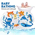 "Non-Slip Baby Bath Mats for Tub for Kids,Shower Mat for Kids,27""W x 16''L,Machine Washable,Fits Any Size Bath Tub (Sea Fish)"