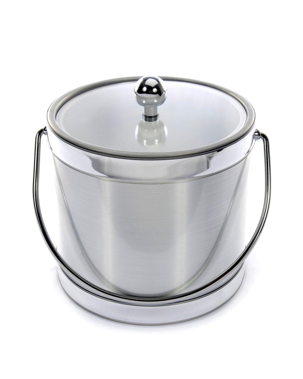 Mr. Ice Bucket 561-1 Brushed Silver Ice Bucket, 3-Quart by Mr. Ice Bucket
