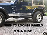 Fits Jeep TJ Wrangler Diamond Plate Side Rocker
