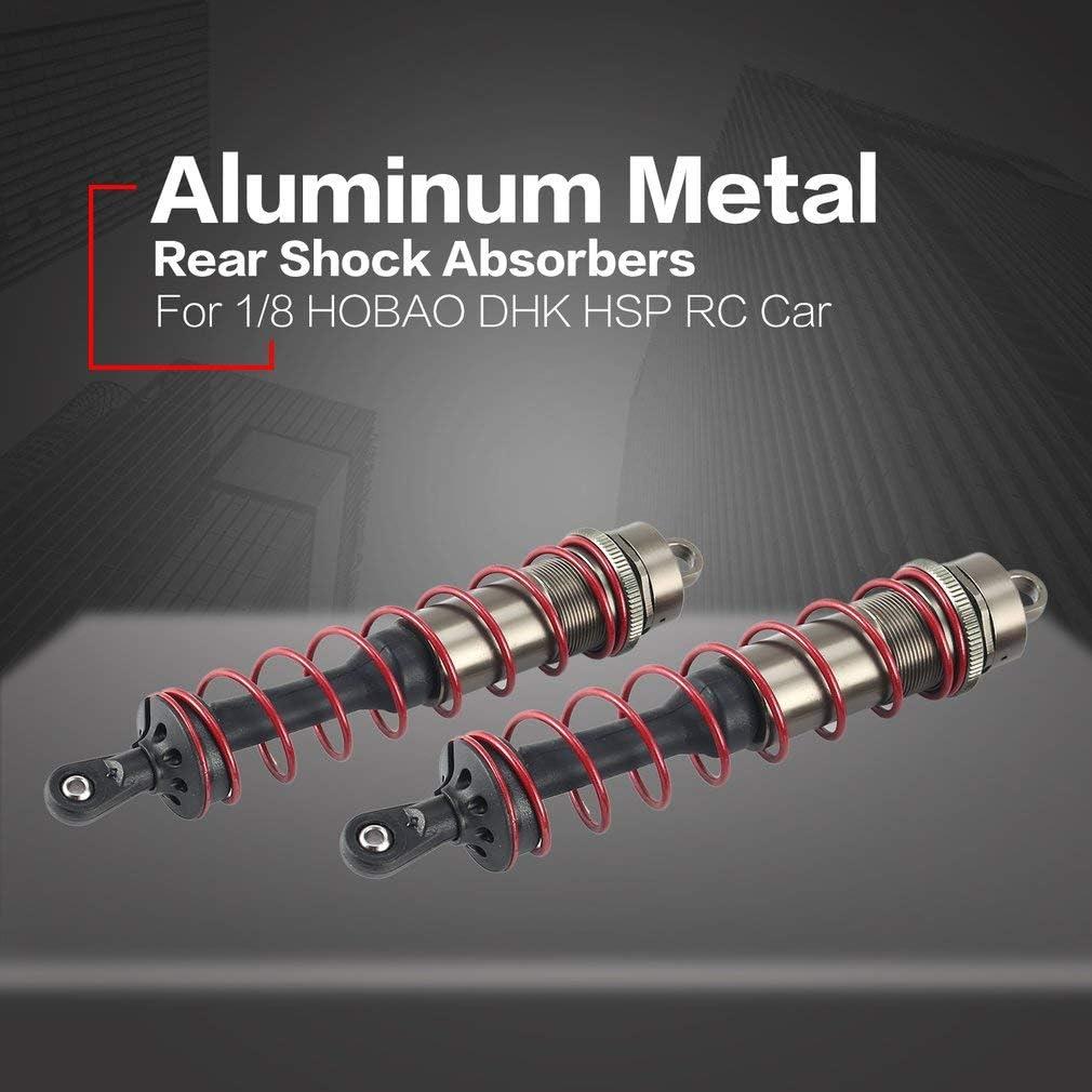 leoboone 2Pcs Aluminium Alloy Metal Rear Shock Absorbers for 1//8 Scale JLB HSP EM Racing DHK HPI ZD Racing RC Car Truck