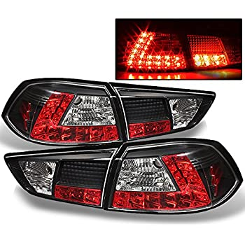 Mitsubishi Lancer Evolution EVO X CZ4A 4B11T JDM Black LED Tail Lights  Brake Driver/Passenger Lamps