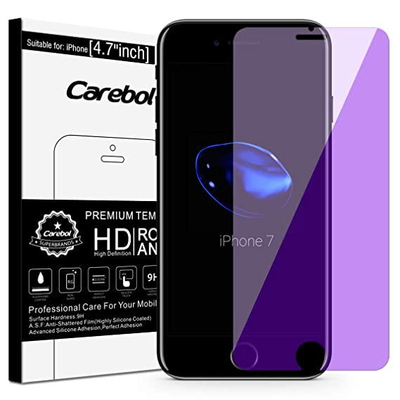 4cb89d6e7ca Image Unavailable. Image not available for. Color: Carebol Anti Blue Light  Tempered Glass Screen Protector for iPhone ...