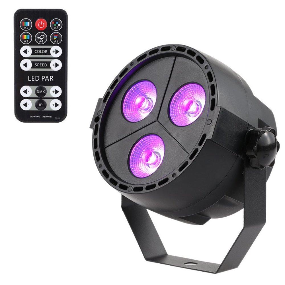 LUNSY 12 LED Par Lights RGB Colorful Multi Lighting Modes Stage Lights 4334419346